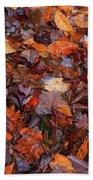 Fall Leaves Beach Towel