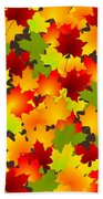 Fall Leaves Quilt Beach Towel