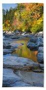 Fall Morning At Swift River Beach Towel