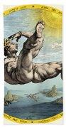 Fall Of Icarus, Greek Mythology Beach Towel