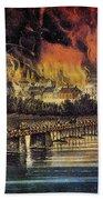 Fall Of Richmond, 1865 Beach Towel