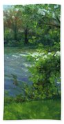 Fall On The Maumee River Beach Towel