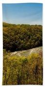 Fall On The Shenandoah River - West Virginia Beach Towel
