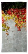 Fall On The Wall Beach Towel