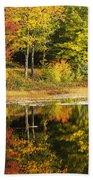 Fall Reflection Beach Towel