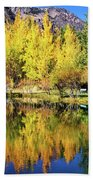 Fall Reflections At The Double Eagle Beach Towel