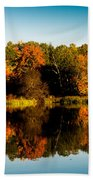 Fall Reflections Beach Towel by Donna Lee