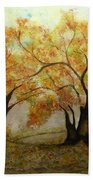 Fall Scene Beach Towel