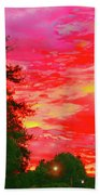 Fall Sunrise Beach Towel