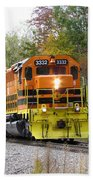 Fall Train In Color Beach Towel by Rick Morgan