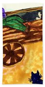 Fall Wagon Ride Beach Towel