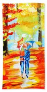Fall Walk Beach Towel