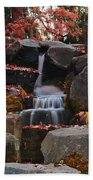 Fall Waterfall Beach Towel