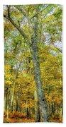 Fall Yellow Beach Towel