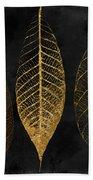 Fallen Gold II Autumn Leaves Beach Towel