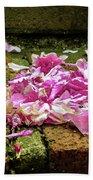 Fallen Petals Beach Towel