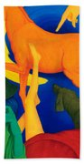 Falling Down. Beach Towel