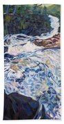 Falling Down Ragged Beach Towel