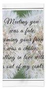 Falling In Love 3 Beach Towel