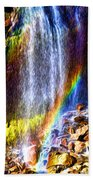 Falling Rainbows Beach Towel