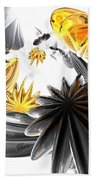 Falling Stars Abstract Beach Towel