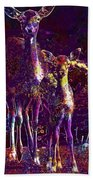 Fallow Deer Doe Fawn Hirsch Young  Beach Towel