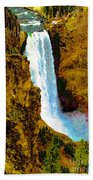 Falls Of The Yellowstone Beach Towel