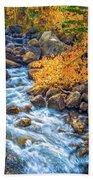 Fall's Rush To South Lake Beach Towel