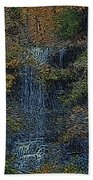 Falls Woodcut Beach Towel