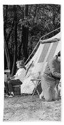 Family Camping, C.1970s Beach Towel