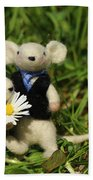 Family Mouse On The Spring Meadow .1. Beach Towel