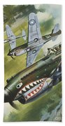 Famous Aircraft And Their Pilots Beach Towel