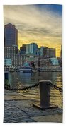 Fan Pier Boston Harbor Beach Towel