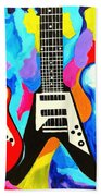 Fancy Guitars Beach Towel