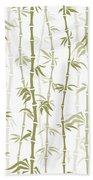 Fancy Japanese Bamboo Watercolor Painting Beach Towel