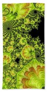 Fantastic Abstract On Black Beach Towel