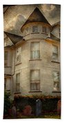 Fantasy - Haunted - The Caretakers House Beach Towel by Mike Savad