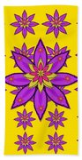 Fantasy Big Flowers In The Happy Jungle Of Love Beach Towel