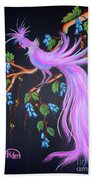 Fantasy Feather Bird Beach Towel