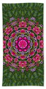 Fantasy Floral Wreath In The Green Summer  Leaves Beach Towel