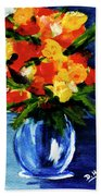 Fantasy Flowers #117 Beach Towel