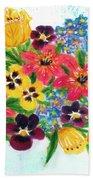 Fantasy Flowers #233 Beach Towel