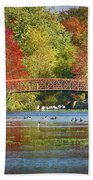 Fantasy Foliage Beach Sheet