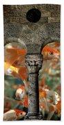 Fantasy Goldfish Aquarium Beach Towel