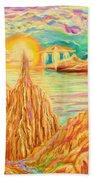 Fantasy Landscape Beach Sheet