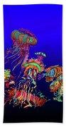 Fantasy Sea Life1 Beach Sheet