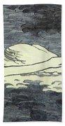 Farbiger Holzschnitt Zwei Schw Ne 1902 Beach Towel