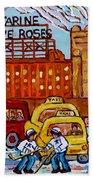 Farine Five Roses Montreal 375 Hometown Hockey Hotel Bonaventure Tour Bus Canadian Art C Spandau Art Beach Towel