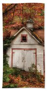 Farm - Barn - Our Old Shed Beach Towel by Mike Savad