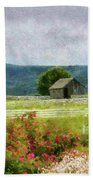 Farm - Barn - Out In The Country  Beach Towel